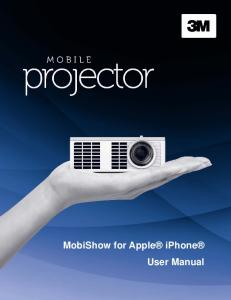 MobiShow for Apple iphone User Manual