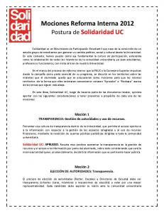 Mociones Reforma Interna 2012