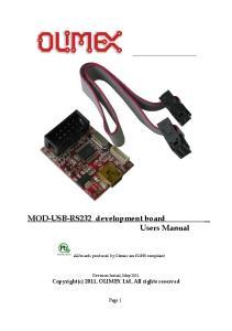 MOD-USB-RS232 development board Users Manual