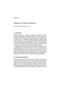Modalities of Chinese Medicine