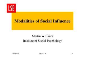 Modalities of Social Influence