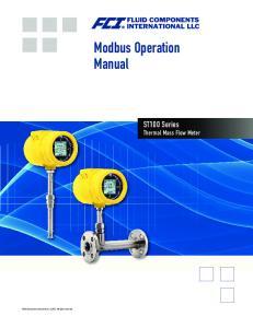 Modbus Operation Manual