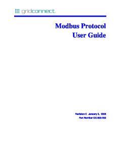 Modbus Protocol User Guide