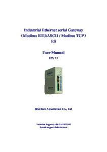 Modbus TCP) ES. User Manual