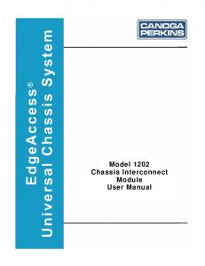 Model 1202 Chassis Interconnect Module User Manual