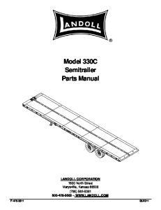 Model 330C Semitrailer Parts Manual