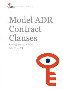 Model ADR Contract Clauses