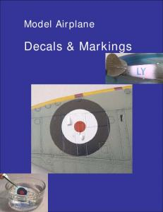 Model Airplane. Decals & Markings