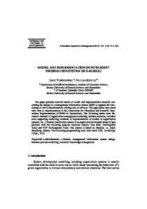 MODEL AND IMPLEMENTATION OF INTELIGENT INFORMATION SYSTEM OF E-BUREAU