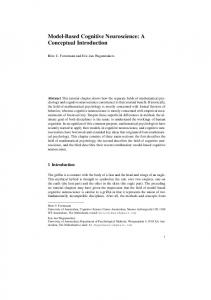 Model-Based Cognitive Neuroscience: A Conceptual Introduction