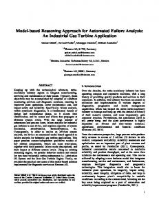 Model-based Reasoning Approach for Automated Failure Analysis: An Industrial Gas Turbine Application