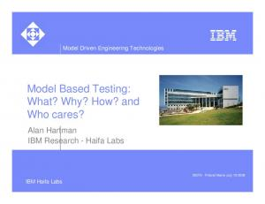 Model Based Testing: What? Why? How? and Who cares?
