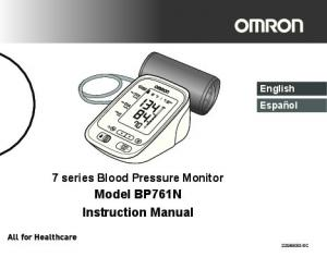 Model BP761N Instruction Manual