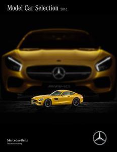 Model Car Selection 2016