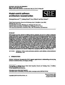 Model-centric software architecture reconstruction