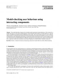 Model-checking user behaviour using interacting components