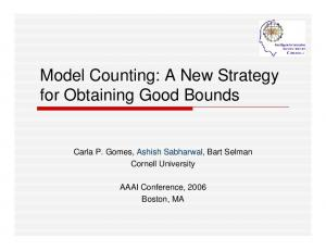 Model Counting: A New Strategy for Obtaining Good Bounds