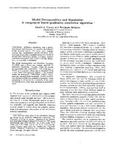 Model Decomposition and Simulation: A component based qualitative simulation algorithm *