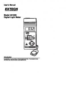 Model Digital Light Meter
