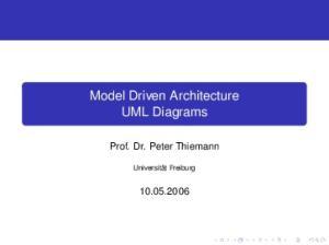 Model Driven Architecture UML Diagrams