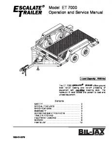 Model ET 7000 Operation and Service Manual