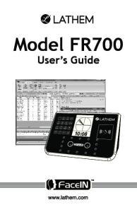 Model FR700. User s Guide 10:08