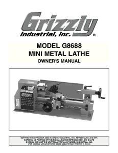 MODEL G8688 MINI METAL LATHE