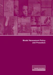 Model Harassment Policy and Procedure