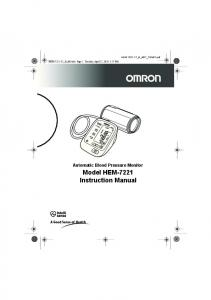 Model HEM-7221 Instruction Manual