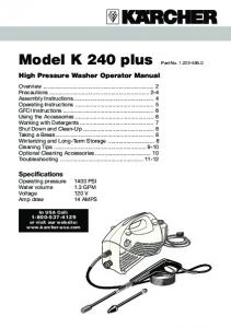 Model K 240 plus Part No