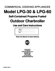 Model LPG-30 & LPG-60