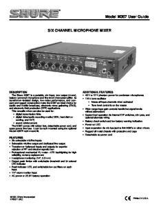 Model M367 User Guide