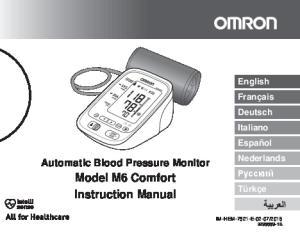Model M6 Comfort Instruction Manual