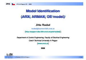 Model Model Identification (ARX, ARMAX, OE model)