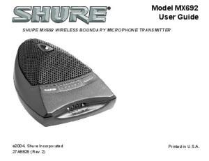 Model MX692 User Guide