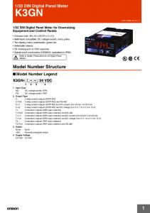 Model Number Structure