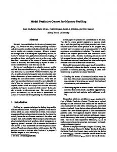 Model Predictive Control for Memory Profiling