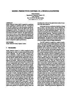 MODEL PREDICTIVE CONTROL IN A PENDULUM SYSTEM