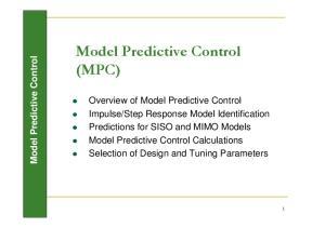 Model Predictive Control (MPC)