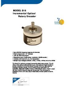 MODEL S15 Incremental Optical Rotary Encoder