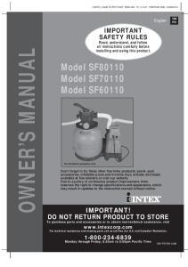 Model SF80110 Model SF70110 Model SF For illustrative purposes only