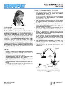 Model SM10A Microphone User Guide