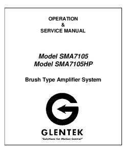 Model SMA7105 Model SMA7105HP