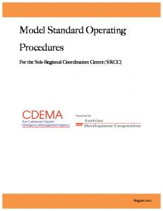 Model Standard Operating Procedures