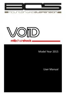 Model Year User Manual