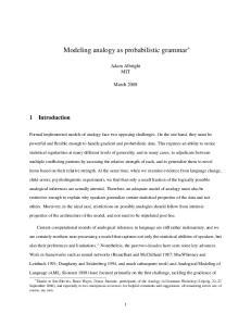 Modeling analogy as probabilistic grammar