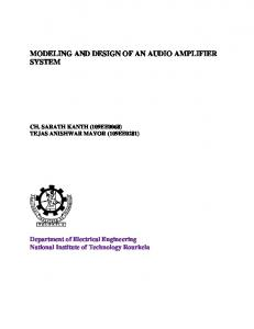 MODELING AND DESIGN OF AN AUDIO AMPLIFIER SYSTEM