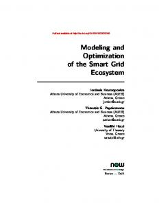 Modeling and Optimization of the Smart Grid Ecosystem