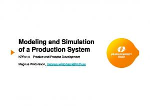 Modeling and Simulation of a Production System