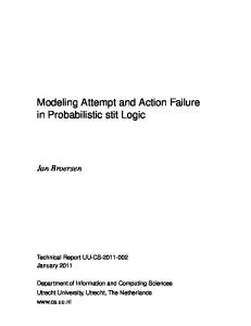 Modeling Attempt and Action Failure in Probabilistic stit Logic